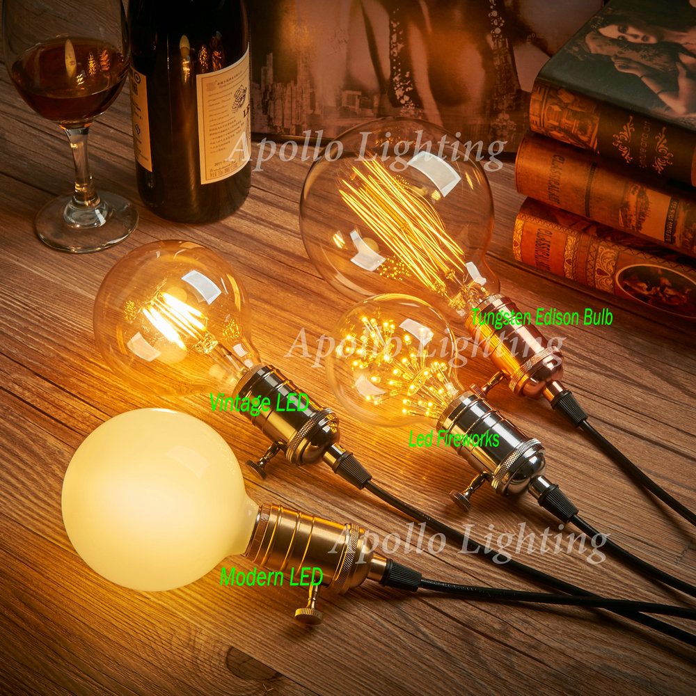 40W 110-240V Vintage Retro DIY E27 Spiral Incandescent Light Handmade Fixtures Glass LED Edison Bulbs Pendant Lamps Lighting(China (Mainland))