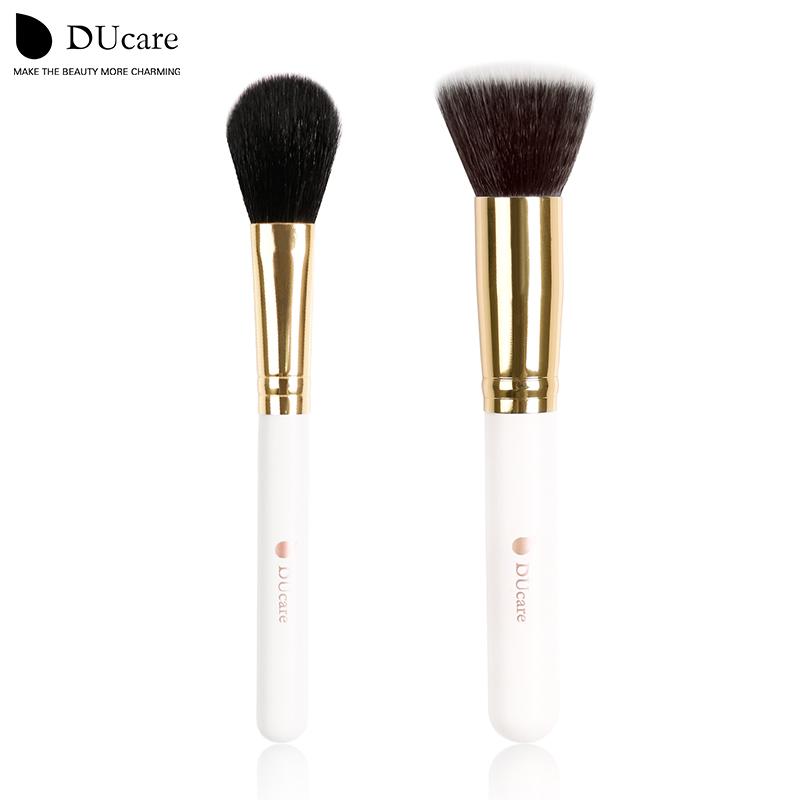 DUcare Flat Top Foundation Brush+Tapered Blush Contouring Brush 2 pcs Comestic Kits brochas maquillaje(China (Mainland))