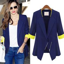 2016 Spring Autumn Women Blazers And Jackets Star Same Style Slim Half Sleeve Zipper Blazers Jacket For Women