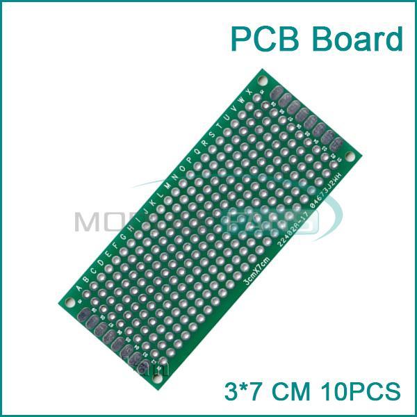 Гаджет  10PCS Double Side Prototype PCB Bread board Tinned Universal 3x7 cm 30x70 mm FR4 None Электронные компоненты и материалы