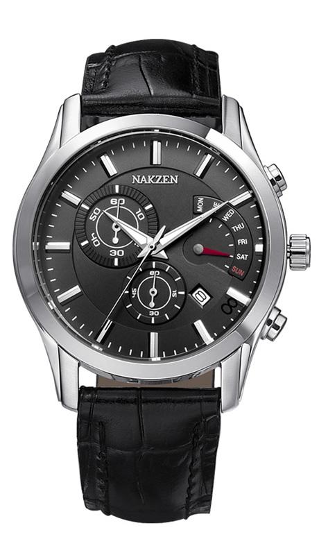 NAKZEN SL5047GBK- 1 watches men luxury brand JAPAN MOVT MIYOTA authentic luminous sports genuine leather relogio masculino<br><br>Aliexpress