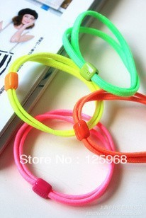 Free Shipping,2016 New 40pcs/lot Baby Girl Kids Tiny Hair Accessary, Neon Solid Color Hair Bands Elastic Ties Ponytail Holder