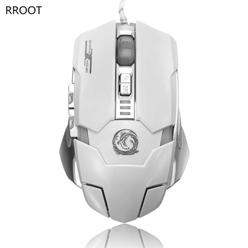 RTOOT T70 USB Rainbow Backlight Wired Optical Gaming Mouse 6 Buttons Backlit 1000-1600 DPI for Pro Gamer fot Laptop Computer PC(China (Mainland))