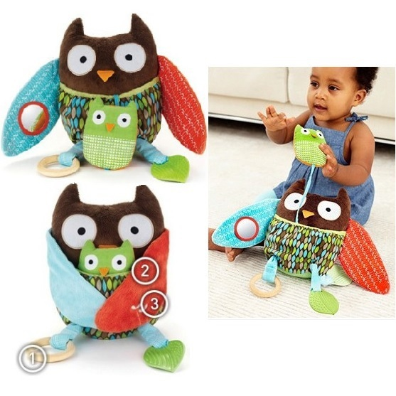 Owl baby rattle toys Stuffed Plush Animals doll Children Comfort Doll Owl Activity Toy Multi-Functional Plush Toy Brinquedos(China (Mainland))