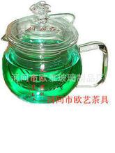 Дополнительная обработка Pu'er чайных растений устойчивы стеклянный горшок давление рот стекло чайник офис чашки