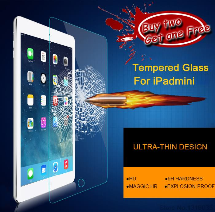 product For ipadmini protective Film Toughened glass Transparent Tempered Glass Screen Protector For iPad mini 1/2/ 3