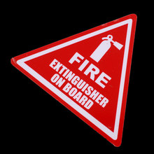 "4"" Triangular Fire First Aid Decal Stickers Cut Road Race Industrial Taxi Label(China (Mainland))"