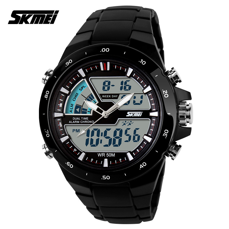 Waterproof Sports Watches For Men Relogio Masculino Hot Sell Men Silicone Sport Watch Reloj S Shockproof Electronic Wristwatch(China (Mainland))