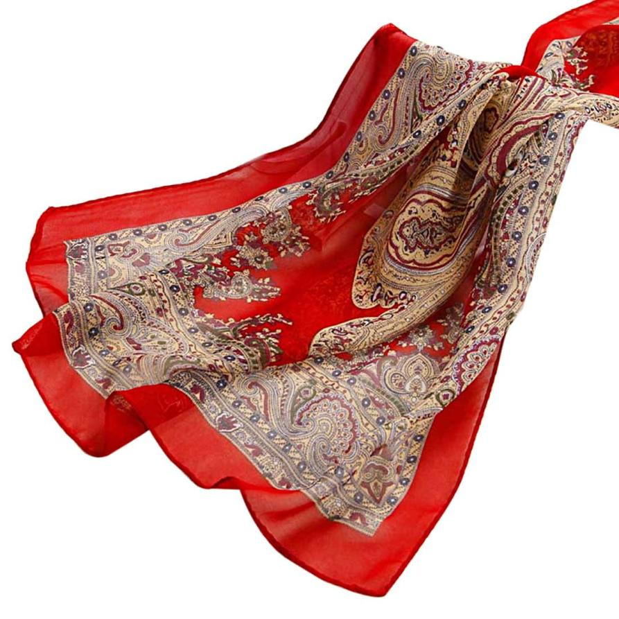 Vintage Flower Scarf Women High Fashion Soft Chiffon Silk Shawl Ladies Big Size Scarves Stole Girls Women's Warps Scarf #Zer(China (Mainland))