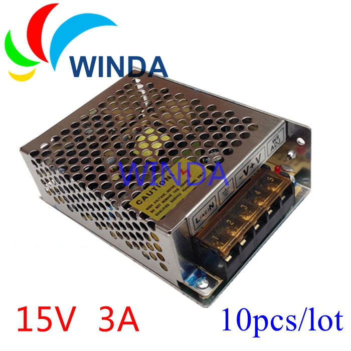 45W switching power supply output 15V 3A Low Power voltage transformer 10pcs<br><br>Aliexpress