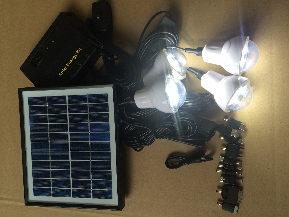 Portable 4W home Solar Power kit,with 4pcs LED lanterns,mobile charger(China (Mainland))