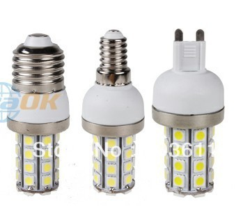 G9/E27/E14 AC 85-265V 8W 5050 SMD 36 LED Cool / Warm White Corn Light Bulb  Without Cover
