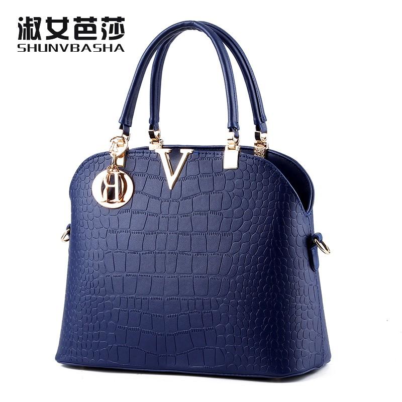 SNBS 100% Genuine leather Women handbags 2016 New wave of female bag Messenger shoulder handbag classic atmosphere(China (Mainland))