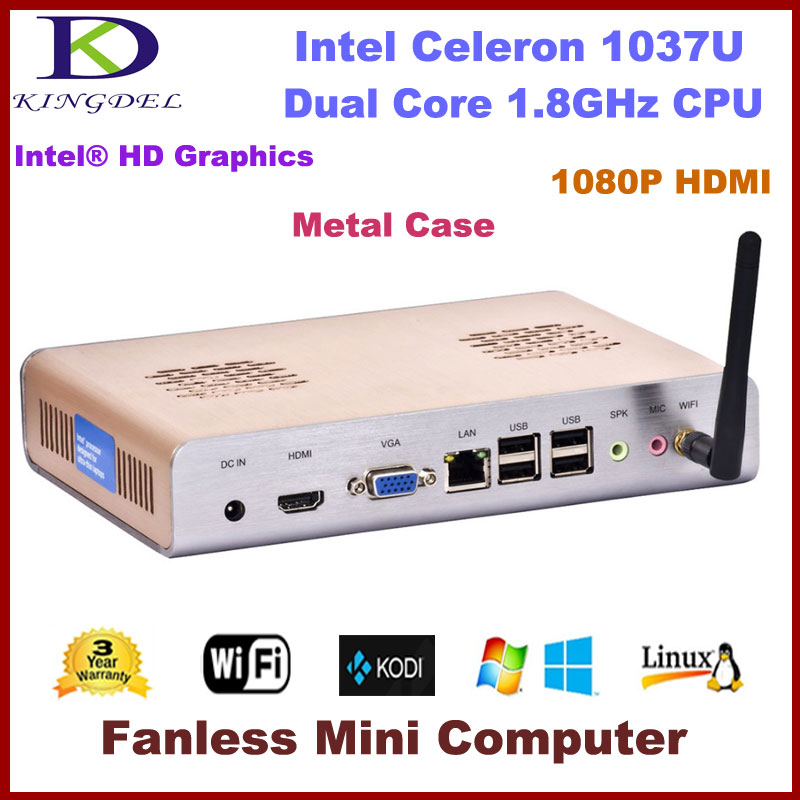 Kingdel New cheap Intel Celeron Dual Core Mini PC Thin Client max 8GB RAM Windows 7 OS HDMI WIFI(China (Mainland))