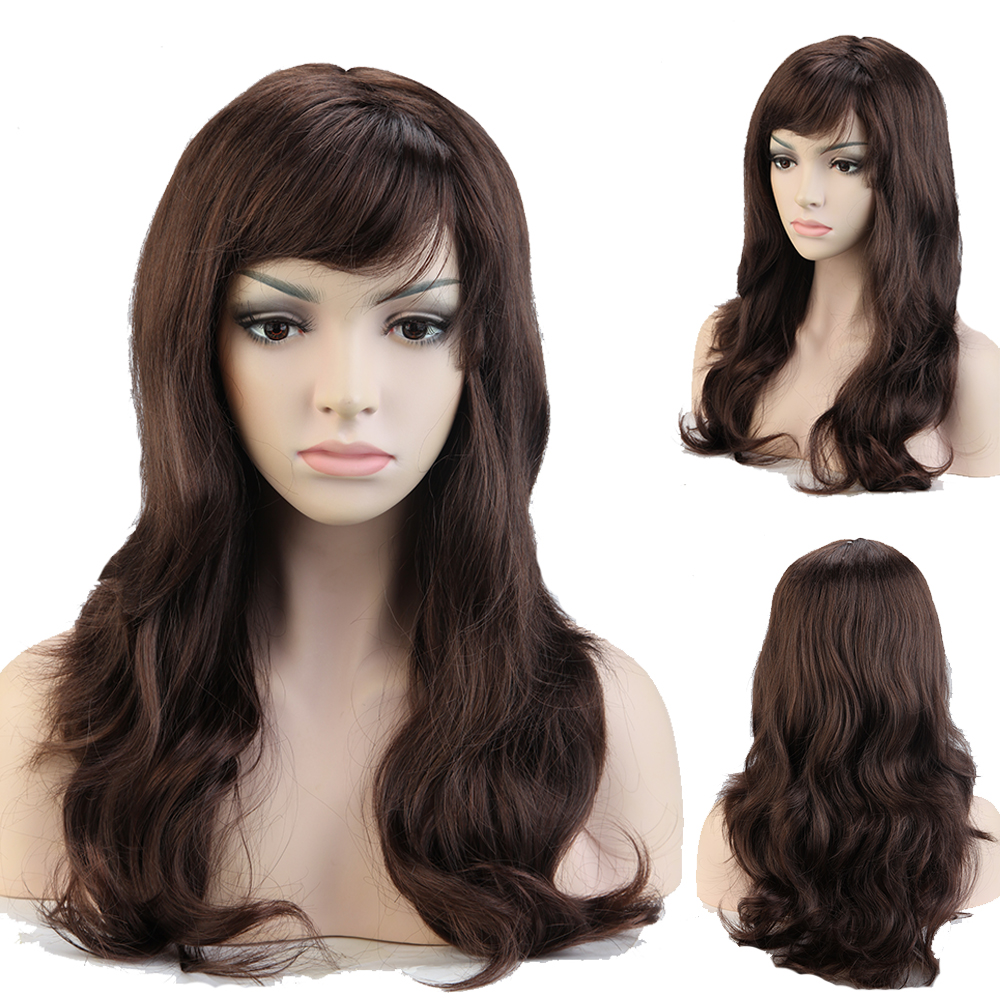 """Cosplay Wig 19"""" Curly Mix Brown Auburn Women Party Wigs Synthetic TW051(China (Mainland))"""