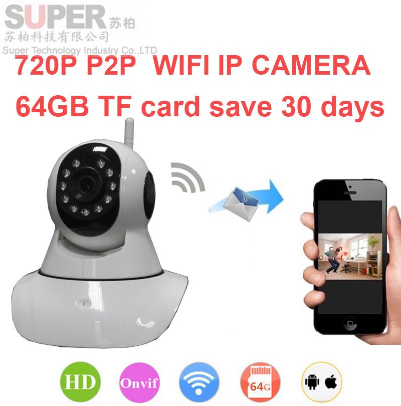 16g can save 10day Onvif DVR easy wifi camera V380 1000 peopel to watch 720P H.380 P2P camera IR cut night vision WiFi IP Camera(China (Mainland))