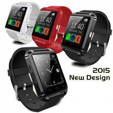 3 colors New U8 U80 Bluetooth Smart Wrist Bracelet Watch Phone Mate For Android IOS Iphone Samsung LG