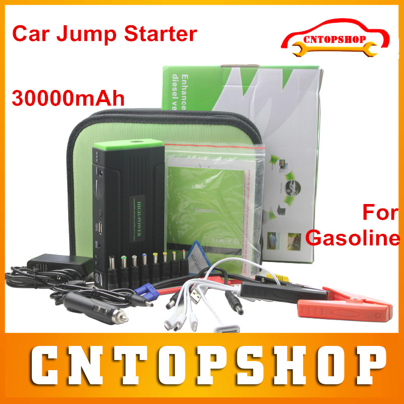 Newly Arrival Gasoline Car Emergency Starter 30000mAh Power Supply Vehicle Engine Battery Charger Multi-function Jump Starter(China (Mainland))