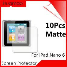 10Pcs/Set Matte Anti-Glare Screen Protector For Apple iPod Nano 6 Protection Cover Protective Guard Film Free Shipping