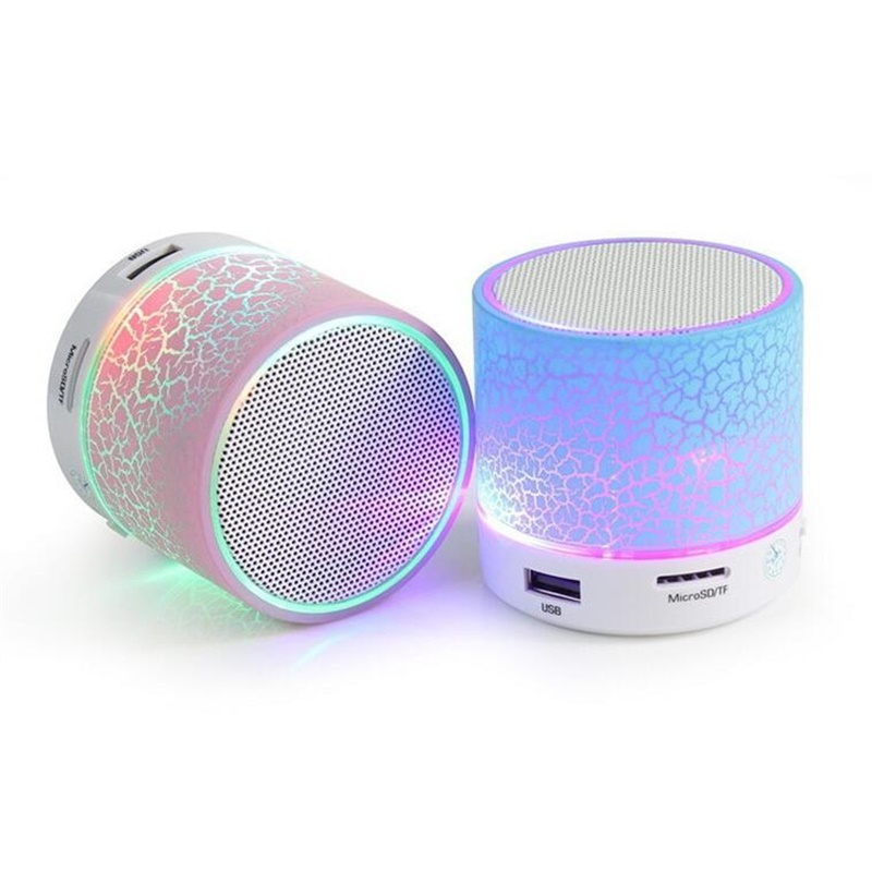 LED Mini Wireless Bluetooth Speaker TF USB Portable Music Loudspeakers Hand-free call For iPhone 6 Mobile Phone PC with Mic(China (Mainland))