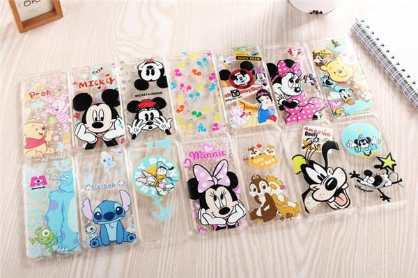 """Tpu transparente telefone celular brinquedos dos desenhos animados Mickey Minnie Mouse ponto Pooh para iPhone 6 5.5 """" casos de telefone móvel(China (Mainland))"""