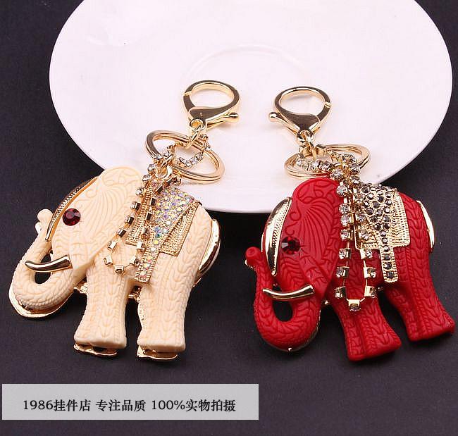 Гаджет  Korea auspicious elephant car key cartoon lady key pendant fashion key chain hanging bag None Изготовление под заказ
