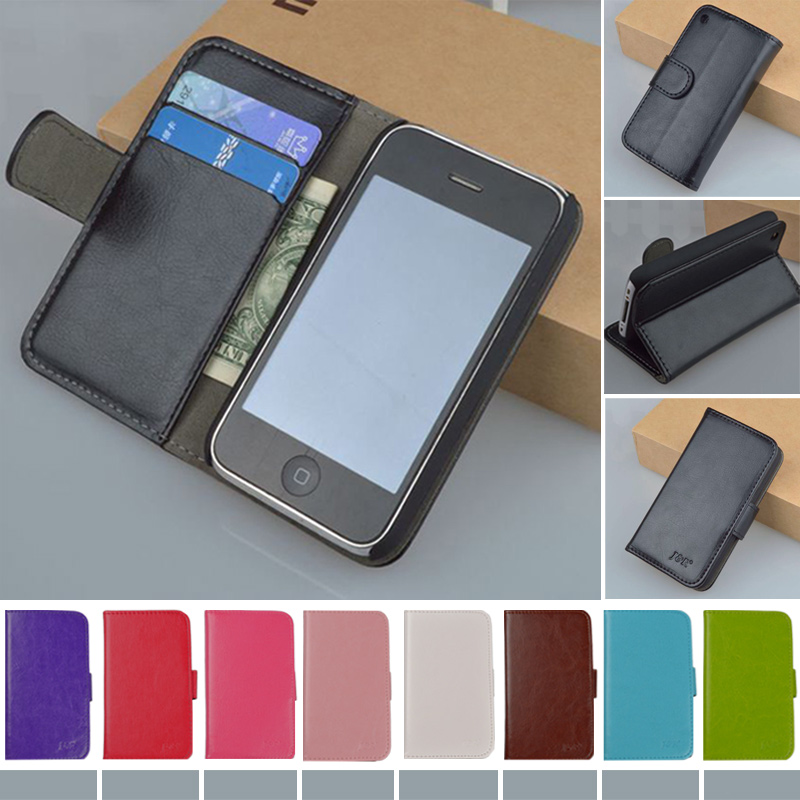 YR Hot Original Good Flip Pouch Leather Cover For Apple iPhone 3 3G 3GS Case Classic Design Free Shipping(China (Mainland))