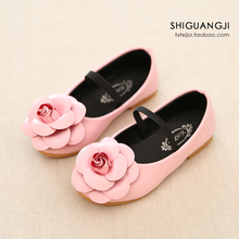 2015 autumn new Korean version of children's shoes, casual shoes, baby girls, little princess flower princess shoes(China (Mainland))
