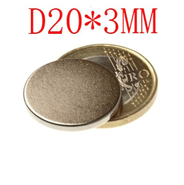 2014 promotion time-limited 100 pcs d20*3mm  20 mm x 3 disc powerful magnet craft neodymium rare earth permanent strong n50 n52<br><br>Aliexpress