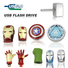 Free Shipping Captain America Iron Man The Hulk Thor8GB 32GB 64GB U Disk Pen drive USB usb Flash Drive memory stick(China (Mainland))