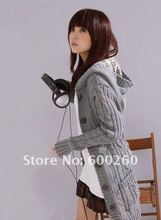 New Women's Long SleeveCoat Cardigans trench Sweater + 1 belt 3 Colors#5135(China (Mainland))