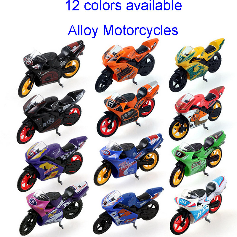 Baby toys 1:24 Children Q vertion mini motorcycles boy toys metal alloy model car 12 types available kids toy gifts collection(China (Mainland))