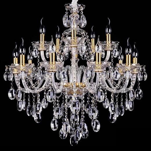 Gros livraison gratuite 15 arms grand lustre en cristal for Gros lustre moderne