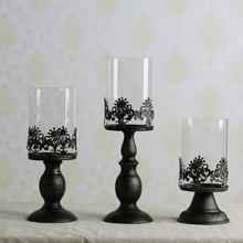 Good quality free shipping european Metal candle holder Candlestick wedding decoration house home Christmas decorations gifts(China (Mainland))