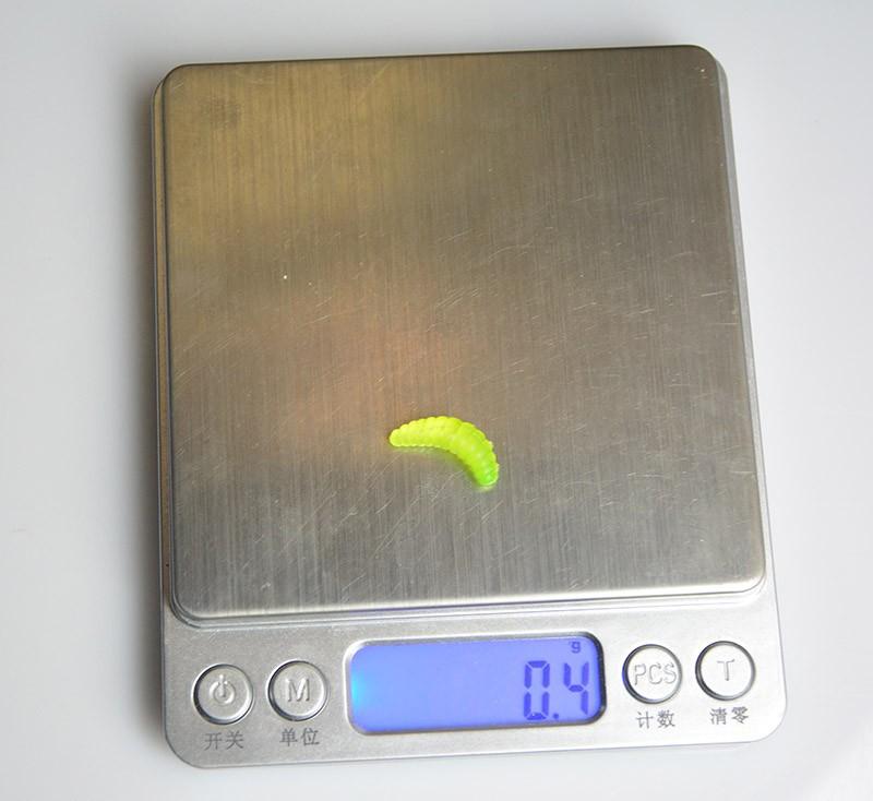 100PCS 2cm 0.4g Maggot Grub Soft Lure Baits Worms Glow Shrimps <font><b>Fishing</b></font> Lures free shipping