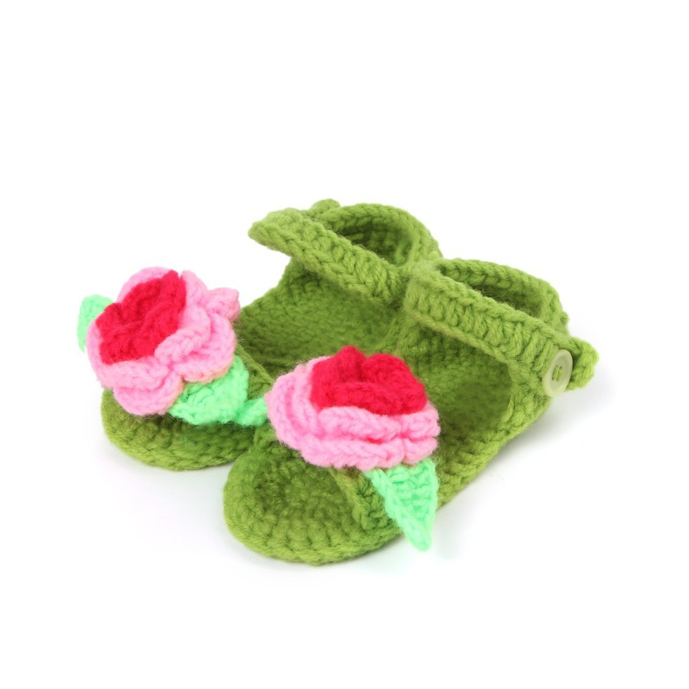 Explosion models cute baby pictures shoes pure manual weaving flower bootie toddler shoes T0038(China (Mainland))