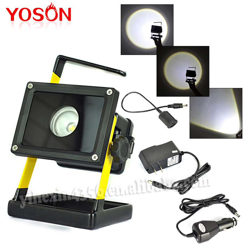 Hot sales 30W Rechargeable LED Flood light Portable Best Quality Emergency LED Flood light 10W by *18650 Battery , With Charger <br><br>Aliexpress