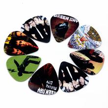10pcs 0.71mm Green day band two side earrings pick DIY design guitar accessries pick guitar picks