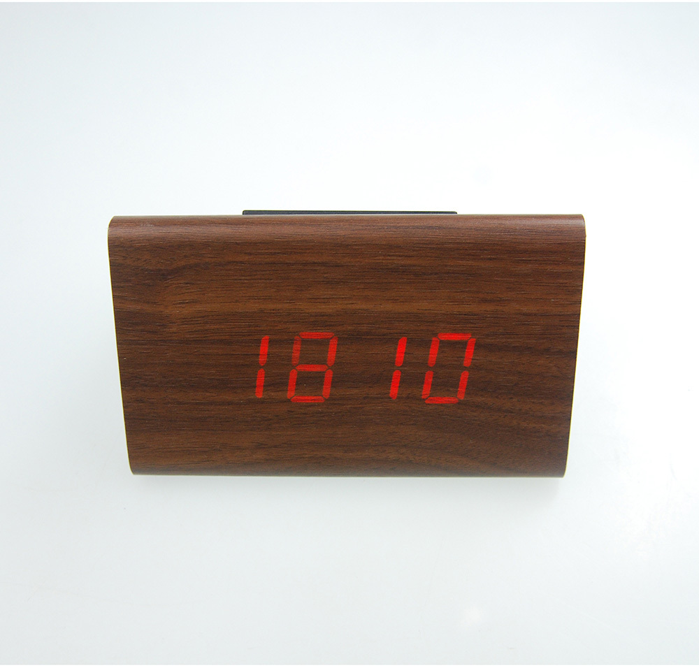 Lowest Price High Quality New Wood Wooden colors Digital LED Alarm Clock Triangular Table Time Free Shippin