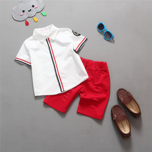 Buy Hot sale! 2016 Summer style Children clothing sets Baby boys girls t shirts+shorts pants sports suit kids clothes for $10.23 in AliExpress store
