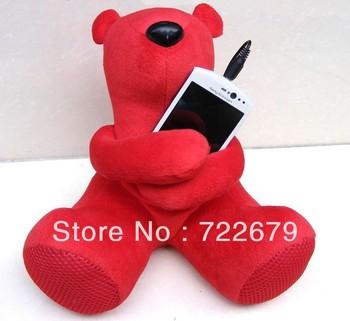 Card Speaker (1pcs/lot ) Cute Cartoon Hippo Plush Toy Speaker FM Radio for MP3 MP4 Mobile Phone& PC &Laptop & U Disk & SD Card