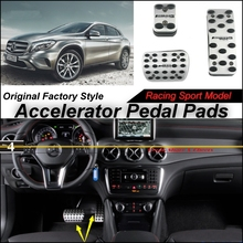 Car Accelerator Pedal Pad / Cover Factory Sport Racing Design Mercedes Benz GLA Class MB X156 AT Foot Throttle - speed car store