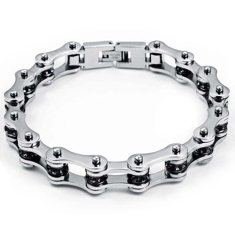Fashion Bracelet Men Stainless Steel Biker Bicycle Motorcycle Chain Bracelets Bangles Jewelry Wholesale(China (Mainland))