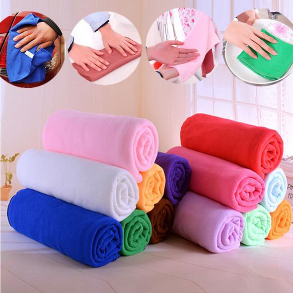 2 pcs/lot 30*70mm Auto Care Microfiber Cleaning Cloths Kitchen Towels Magic Household Glasses Car Clean Sponge Cloth(China (Mainland))