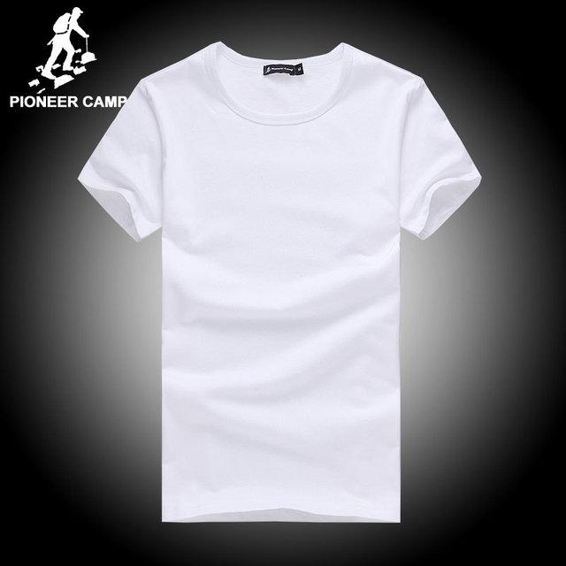 Пионерский Лагерь хлопка майка мужчин 4XL 2016 лето твердые футболки мужской повседневная футболка мода мужская футболка с коротким рукавом фитнес