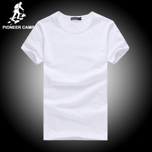 Pioneer Camp t shirt de algodão homens 4XL 2016 verão sólida t-shirt masculino camiseta casual moda mens camiseta manga curta aptidão