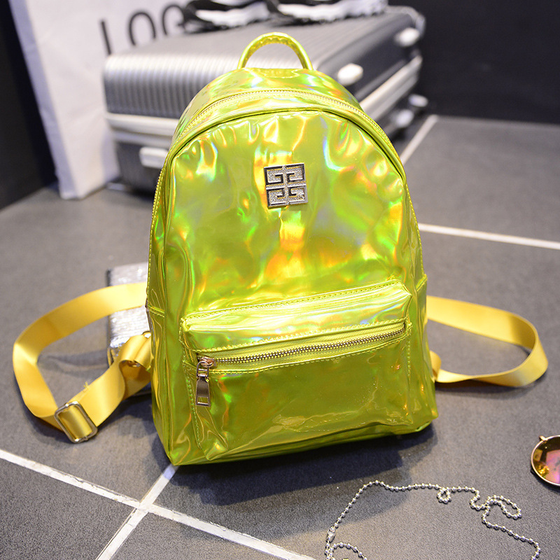 New Designer Brand Women's Backpacks Fashion PU Luxury Laser Small Backpacks Cute Korean School Bags for Women Teenagers girls(China (Mainland))