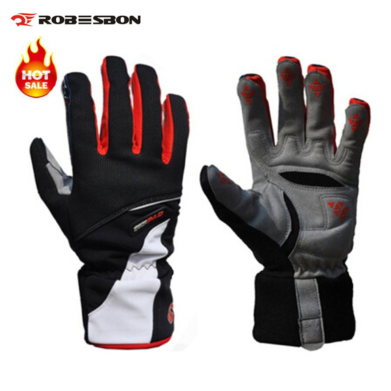 Гаджет  Brand Robesbon High quality Warm in Winter Thickening Bike Bicycle Gloves Fleece Windproof Waterproof Full Finger Cycling Gloves None Спорт и развлечения