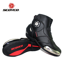 SCOYCO Microfiber Leather Motorcross Off-Road Racing Ankle Boots Motorcycle Riding Boots Street Riding Shoes Protective Gear
