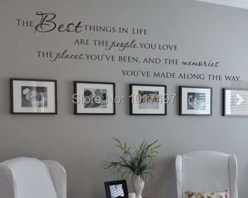 The Best Things In Life Vinyl wall decals ~ Love Memories Wall Quote Home Art Vinyl Decal Sticker ,Free shipping large size new(China (Mainland))